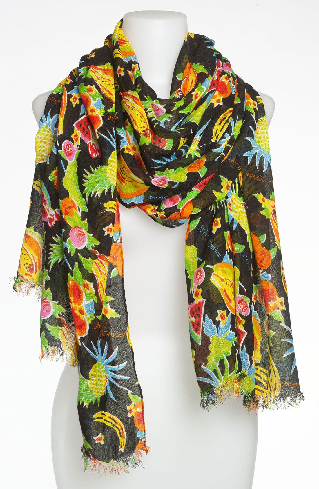 Alternate Image 1 Selected - Betsey Johnson 'Fruit Cocktail' Scarf