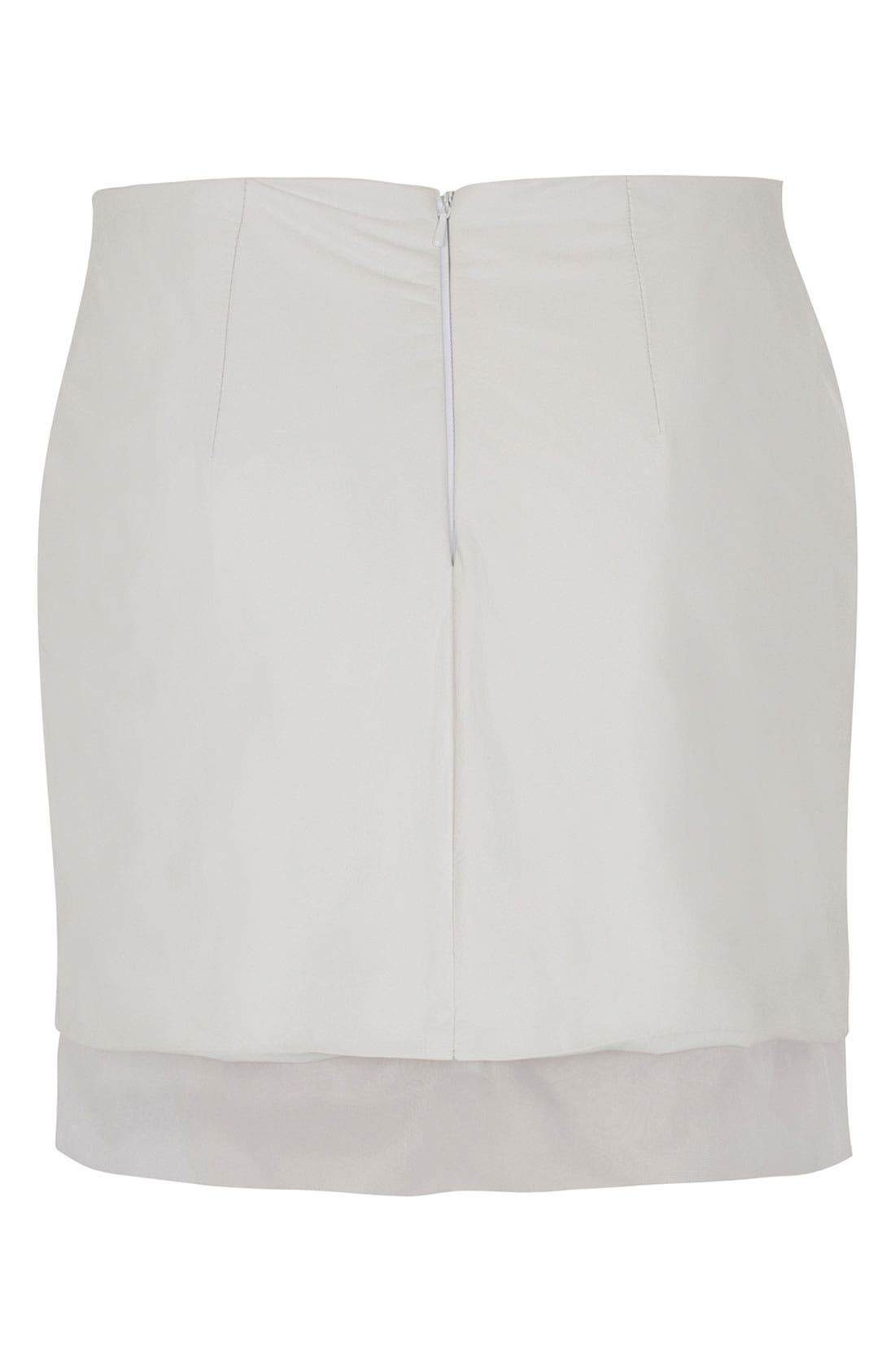 Alternate Image 2  - Topshop Unique Leather Skirt