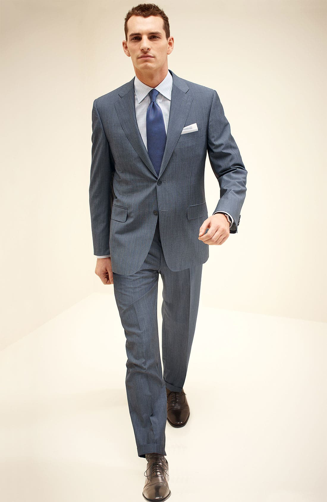 Alternate Image 7  - Canali Stripe Wool Suit