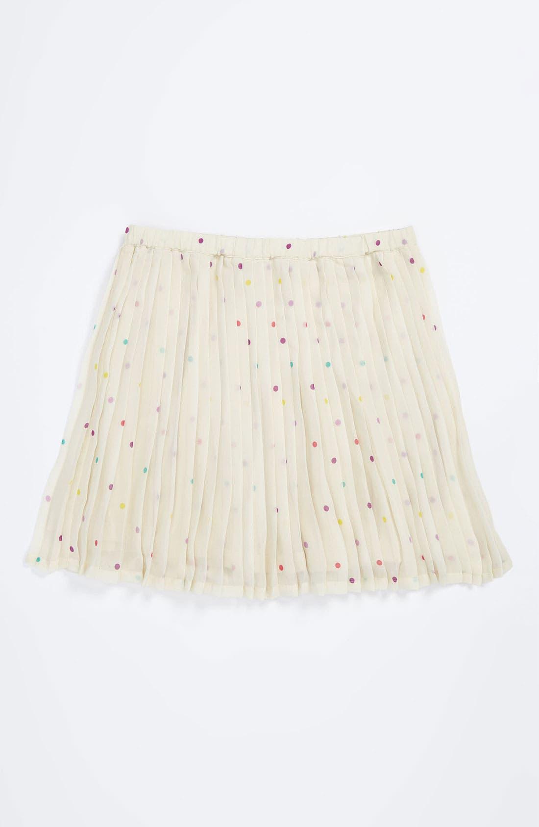 Alternate Image 1 Selected - Ruby & Bloom Pleated Chiffon Skirt (Little Girls)