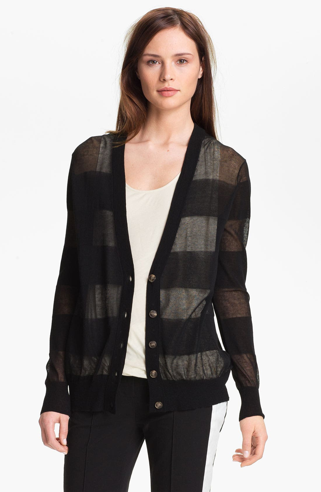 Alternate Image 1 Selected - Halston Heritage Sheer Cardigan