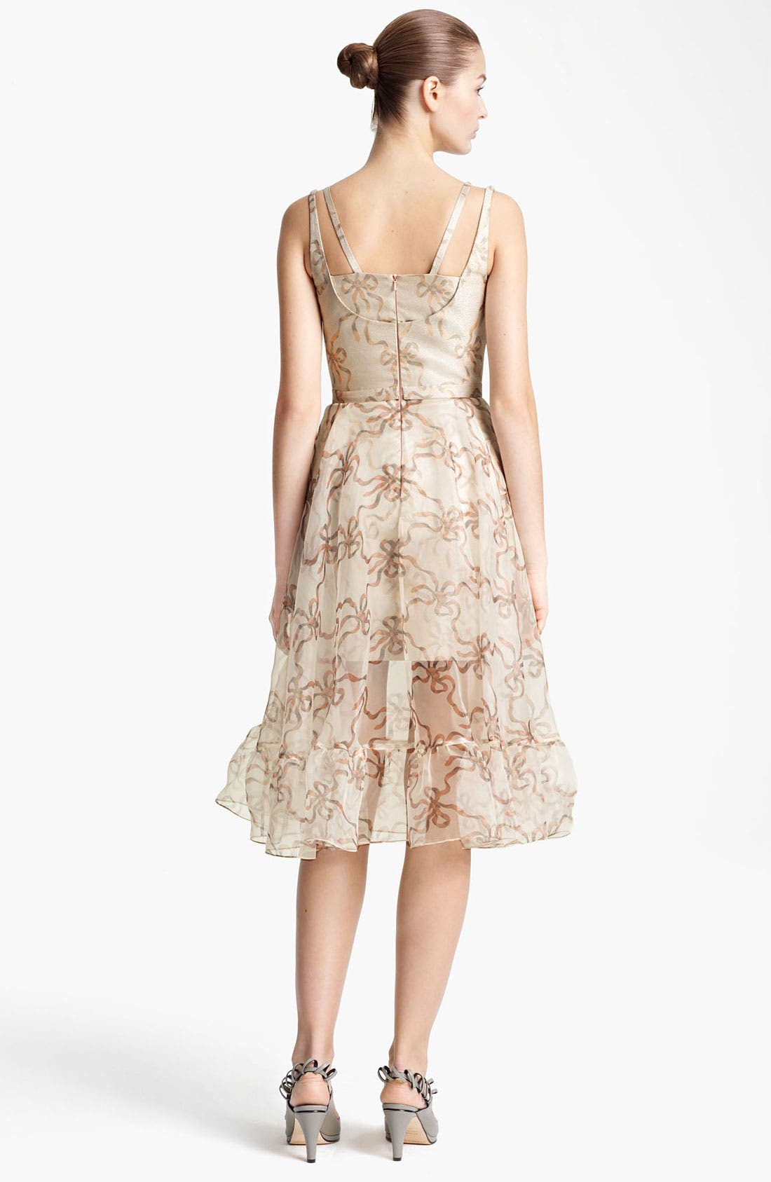 Alternate Image 2  - Christopher Kane Ribbon Print Organza Dress