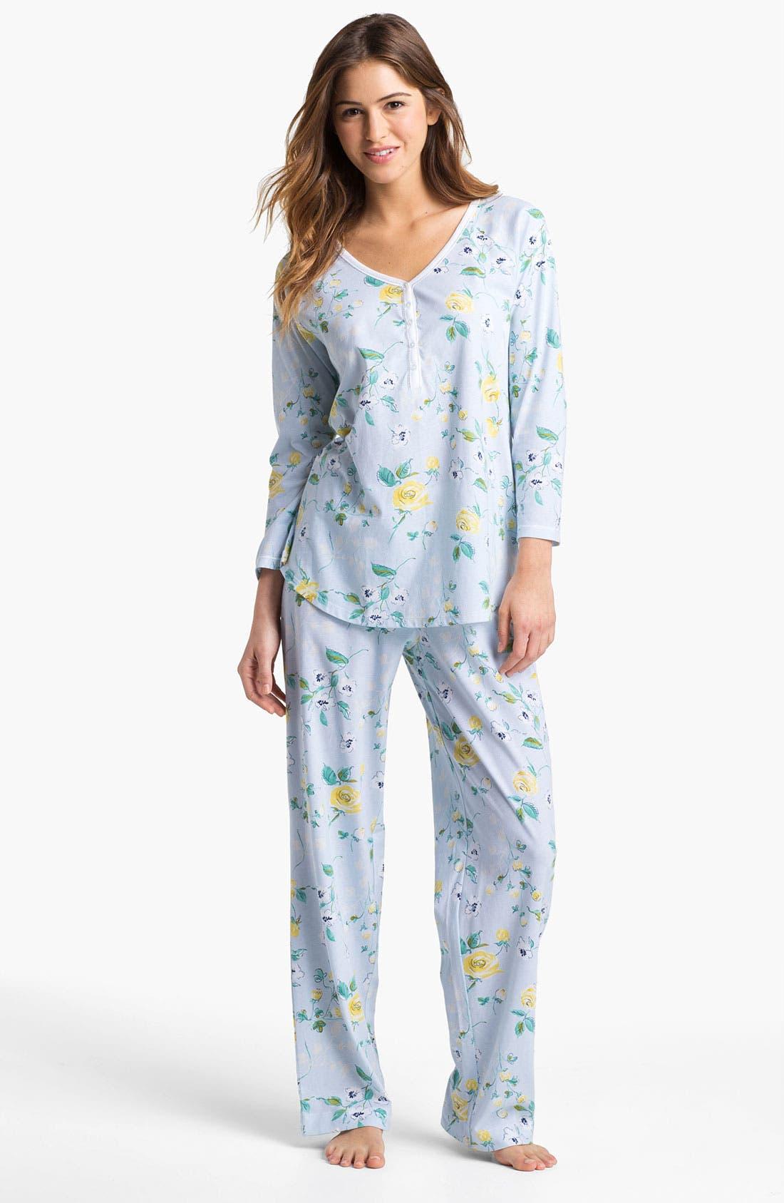 Alternate Image 1 Selected - Carole Hochman Designs 'Vintage Rose' Pajamas