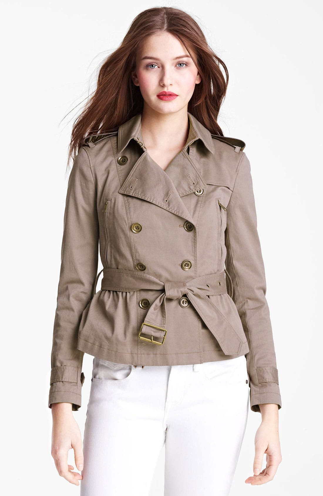 Main Image - Burberry Brit 'Faulkbourne' Trench Coat (Online Only)