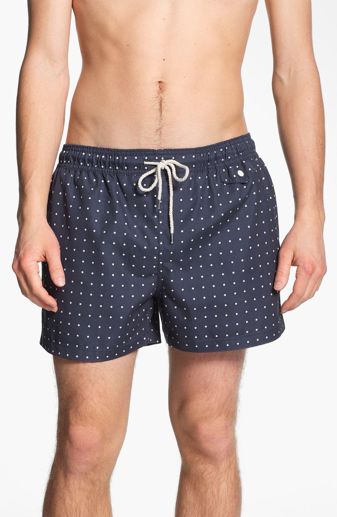 Alternate Image 1 Selected - Topman Polka Dot Swim Trunks