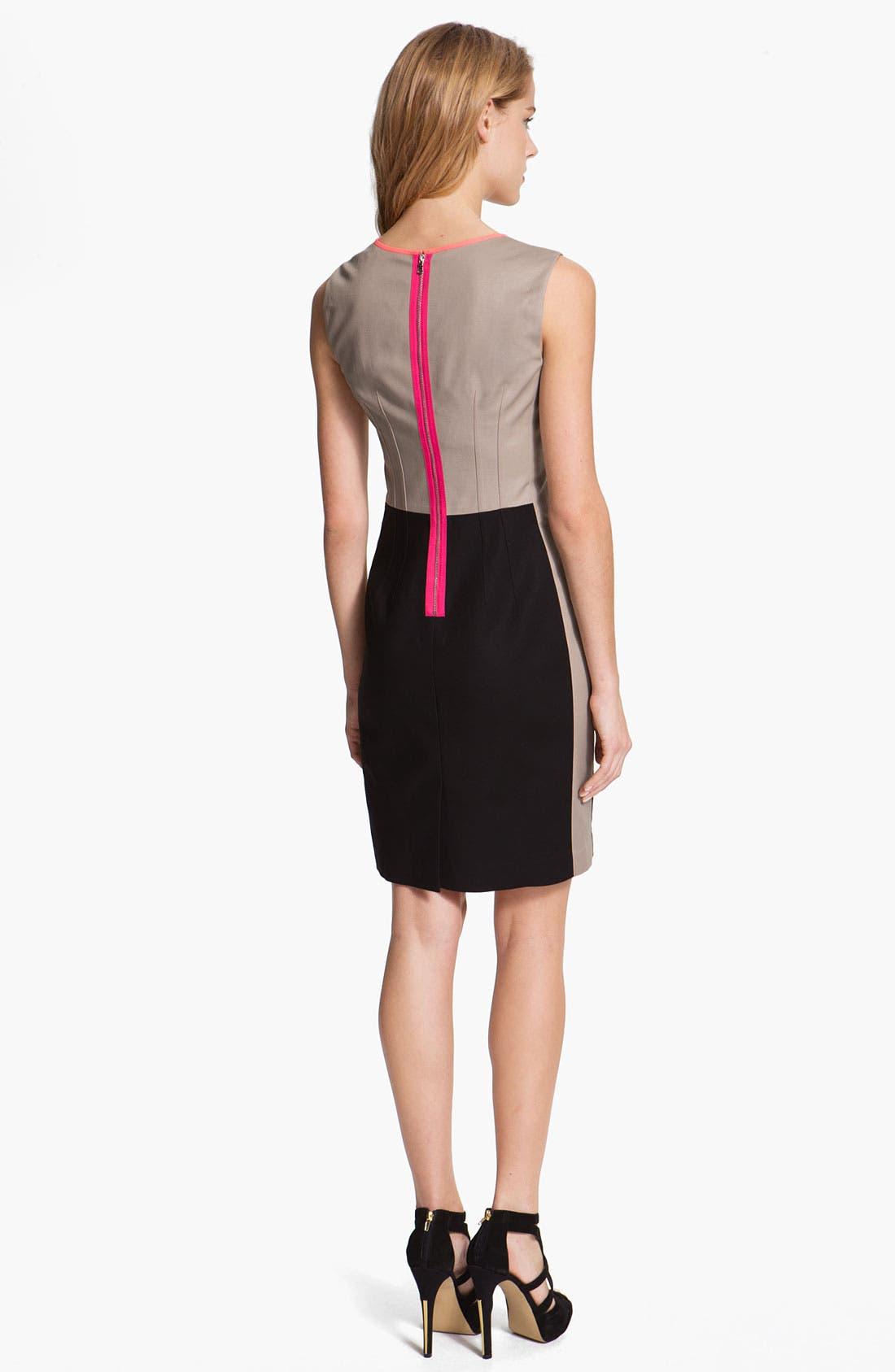 Alternate Image 2  - T Tahari 'Dakota' Colorblock Dress
