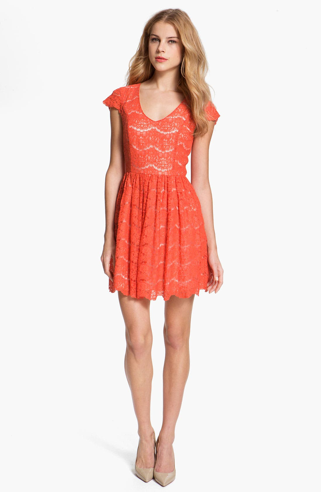 Alternate Image 1  - Kensie Floral Lace Dress
