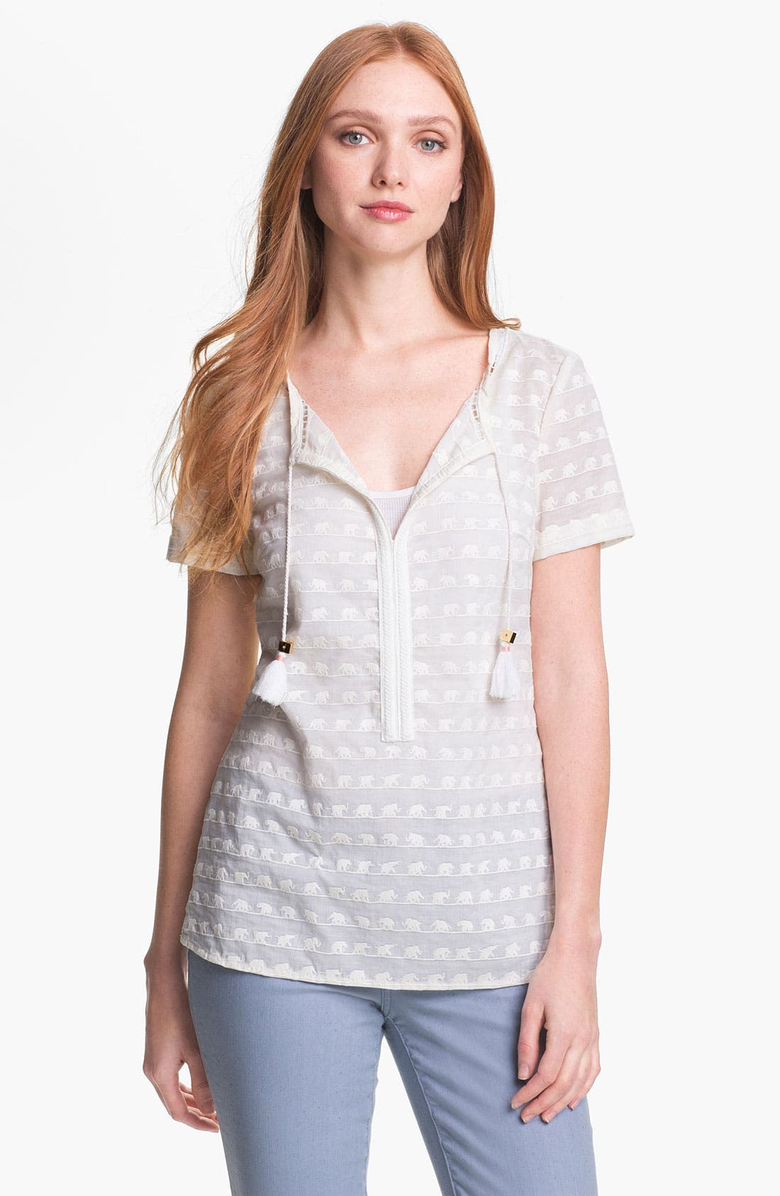 Alternate Image 1 Selected - Tory Burch 'Maxon' Cotton Top