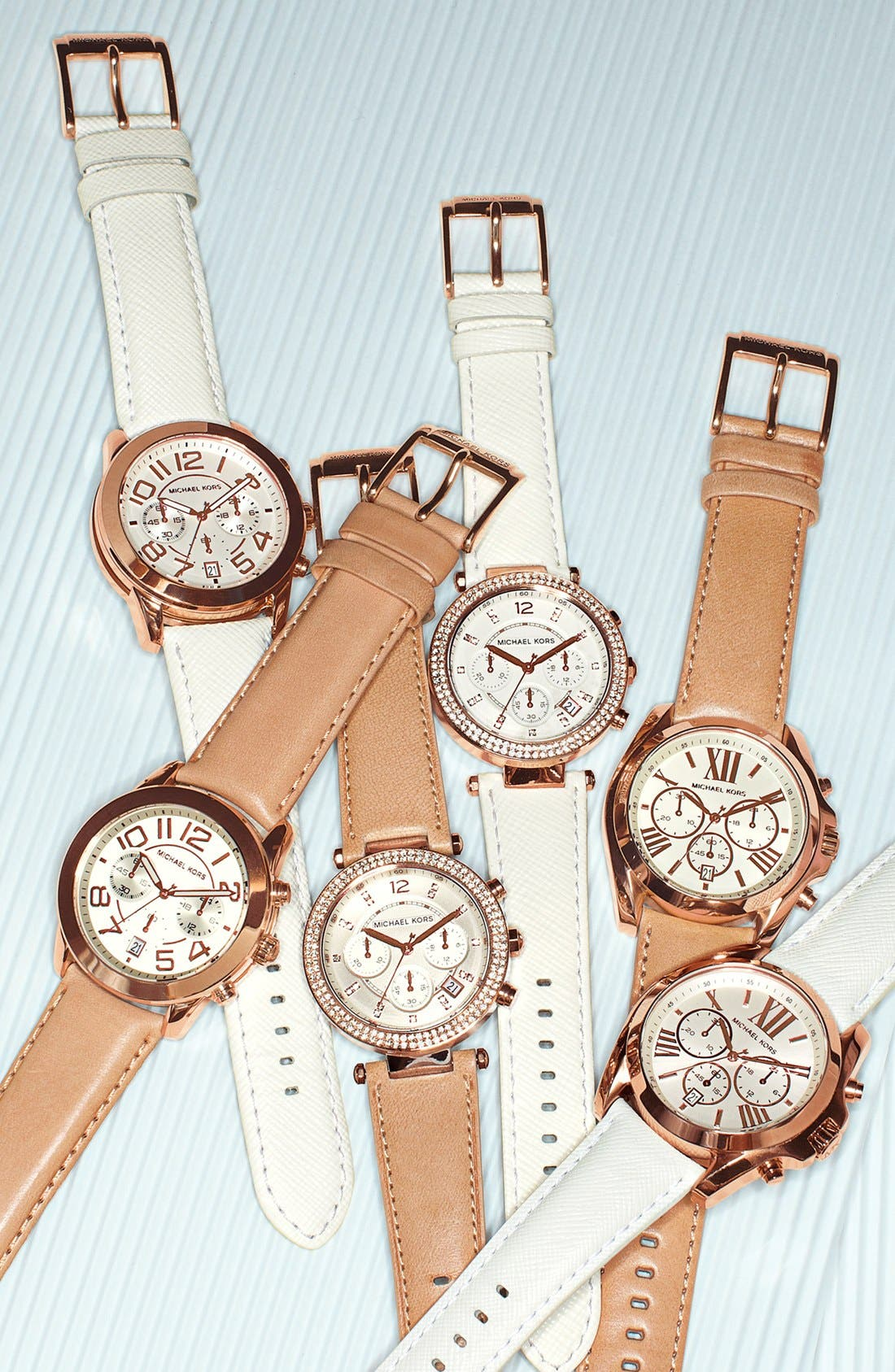 Alternate Image 2  - Michael Kors Chronograph Leather Strap Watch, 41mm