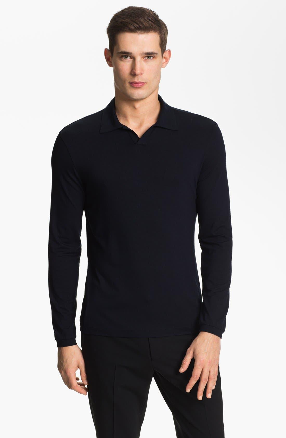 Main Image - Armani Collezioni Johnny Collar Knit Sweater