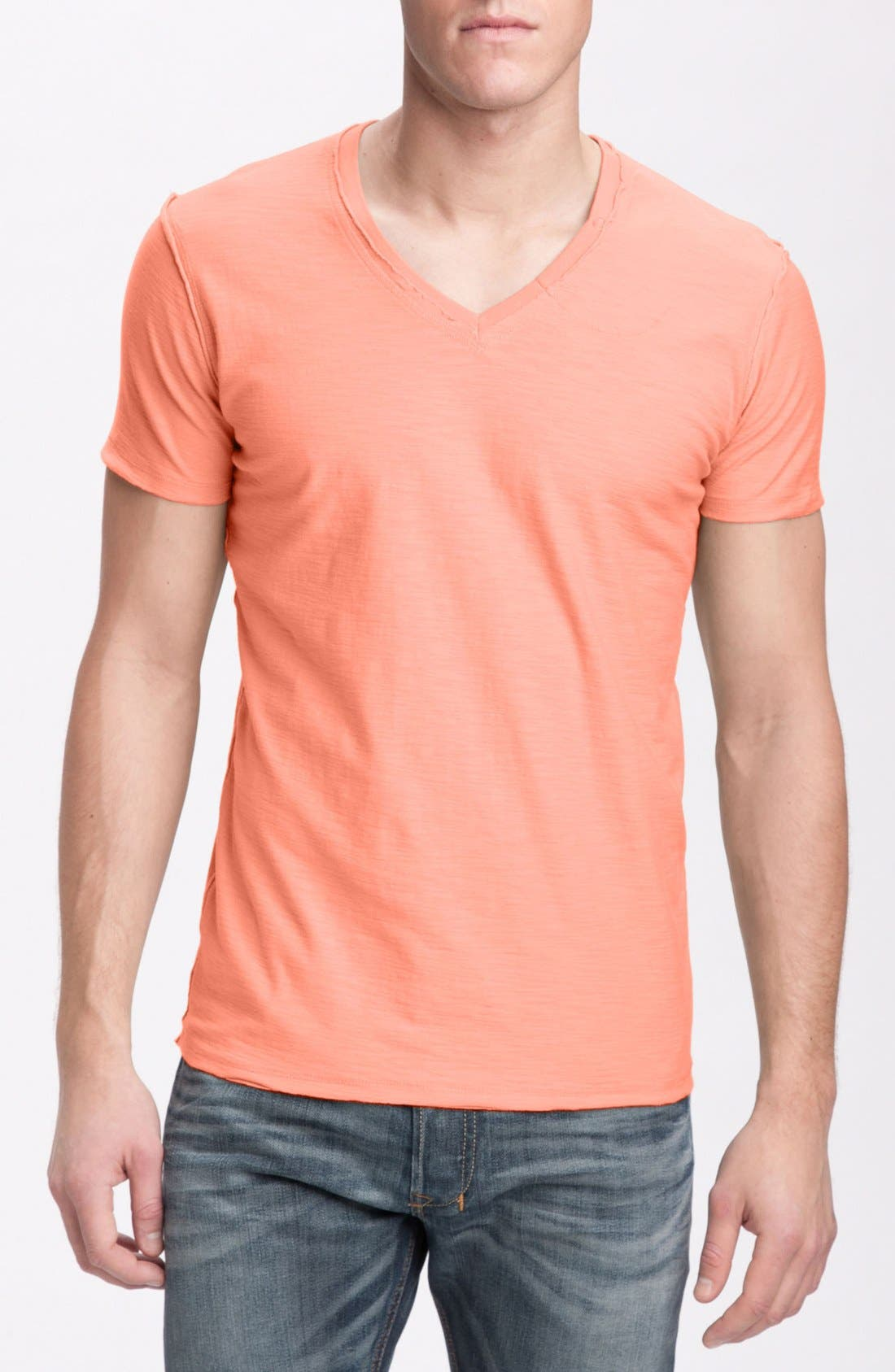 Alternate Image 1 Selected - DIESEL® 'TOS' Extra Trim Fit V-Neck Slub T-Shirt