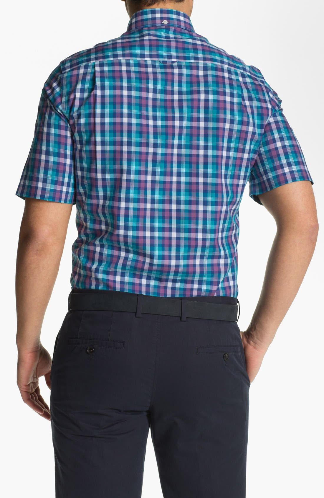 Alternate Image 2  - Nordstrom Short Sleeve Poplin Sport Shirt
