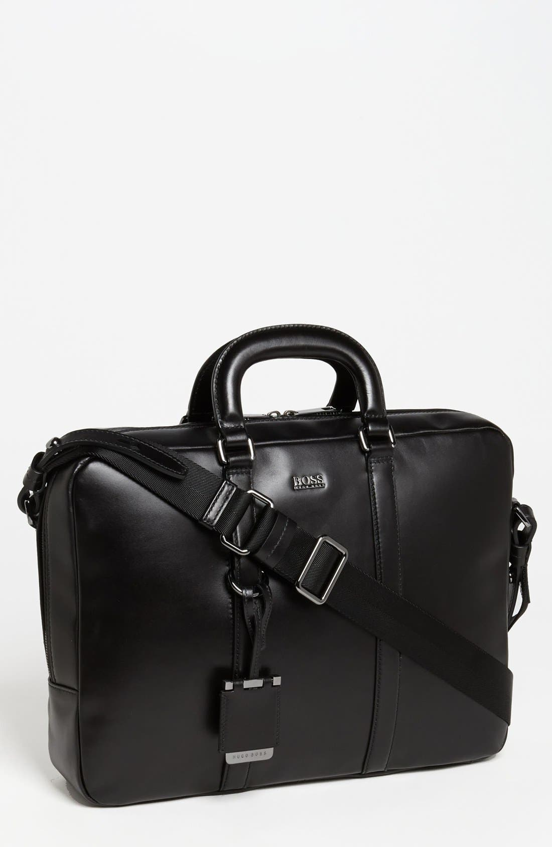 Alternate Image 1 Selected - BOSS Black 'Possiv' Leather Briefcase