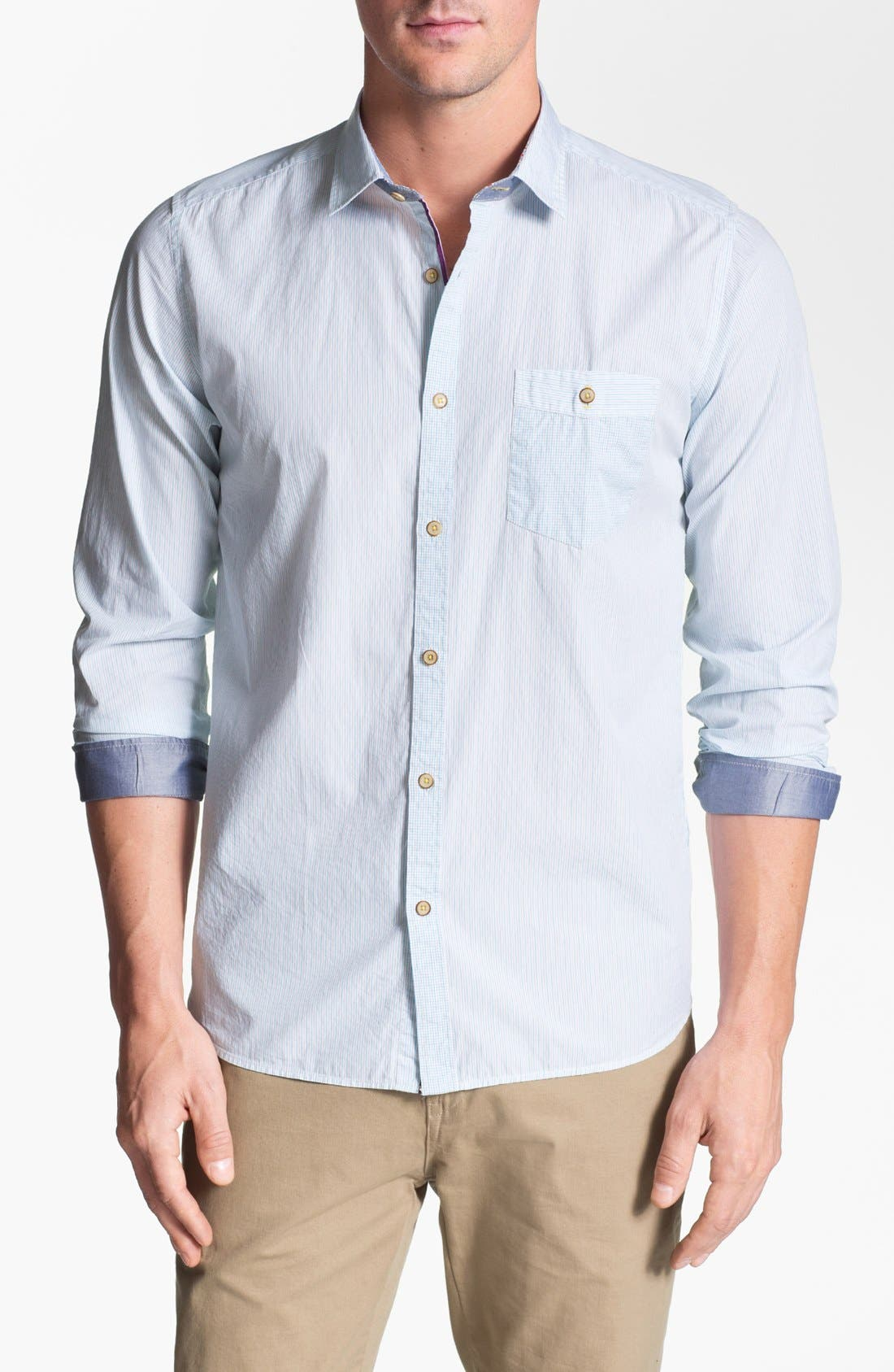 Alternate Image 1 Selected - Ted Baker London 'Dezfed' Trim Fit Sport Shirt