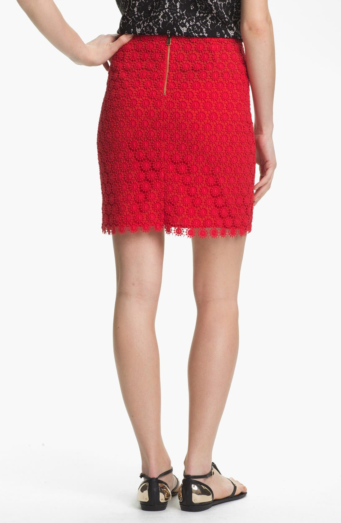 Alternate Image 2  - Vince Camuto Lace Skirt