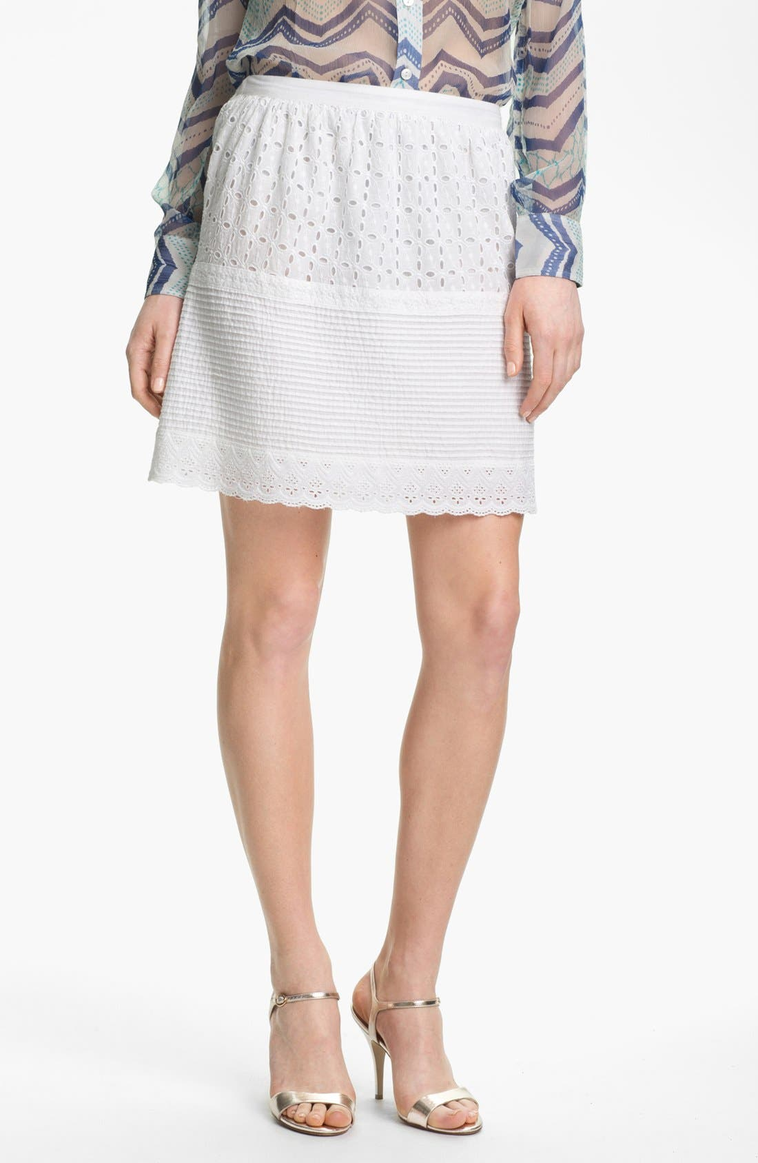 Main Image - Lucky Brand 'Prarie' Tiered Eyelet Skirt