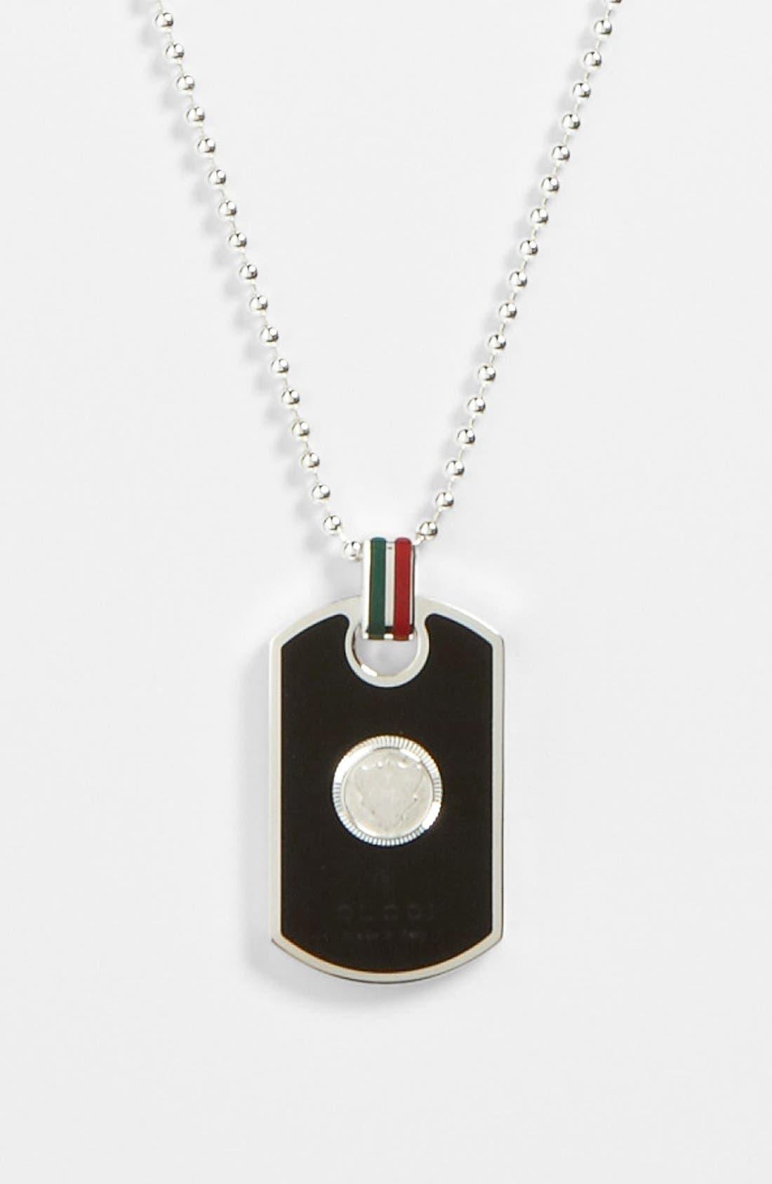 Alternate Image 2  - Gucci Enamel Dog Tag Necklace