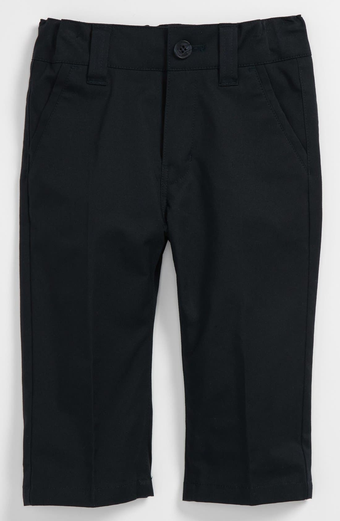 Alternate Image 1 Selected - BOSS Kidswear Twill Pants (Baby)