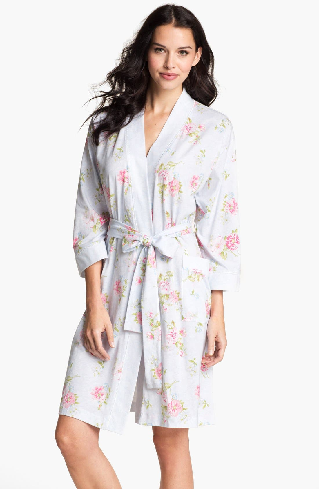 Alternate Image 1 Selected - Carole Hochman Designs Short Floral Print Robe