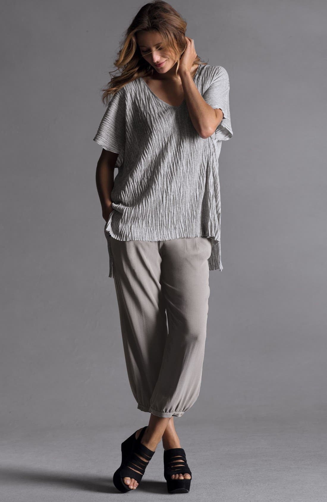Alternate Image 6  - Eileen Fisher Boxy Crinkled V-Neck Tunic