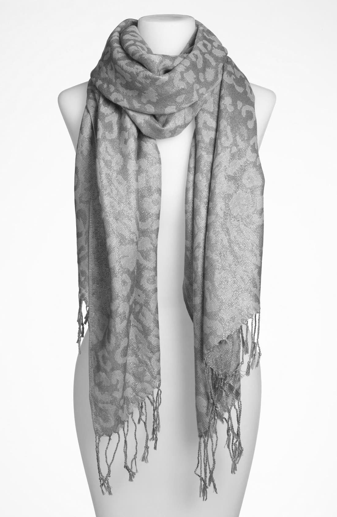 Alternate Image 1 Selected - Lulu 'Leopard' Scarf