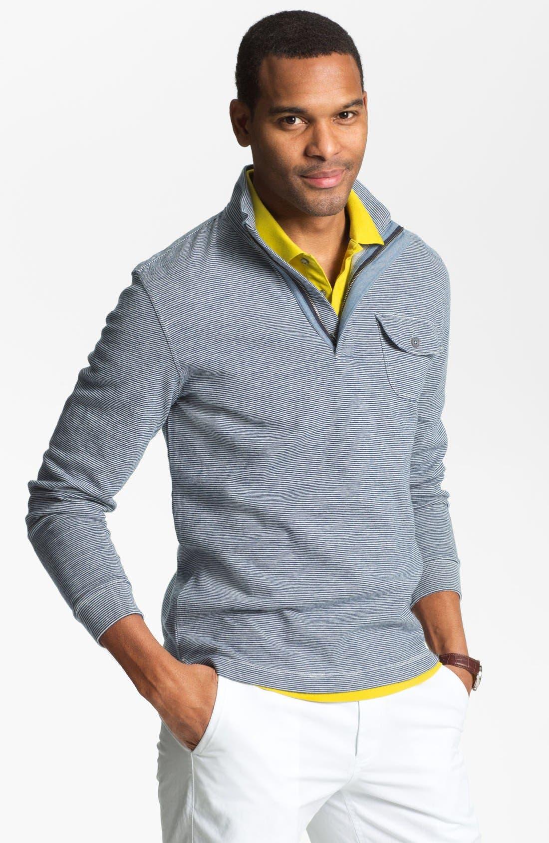 Main Image - Hickey Freeman Quarter Zip Pullover