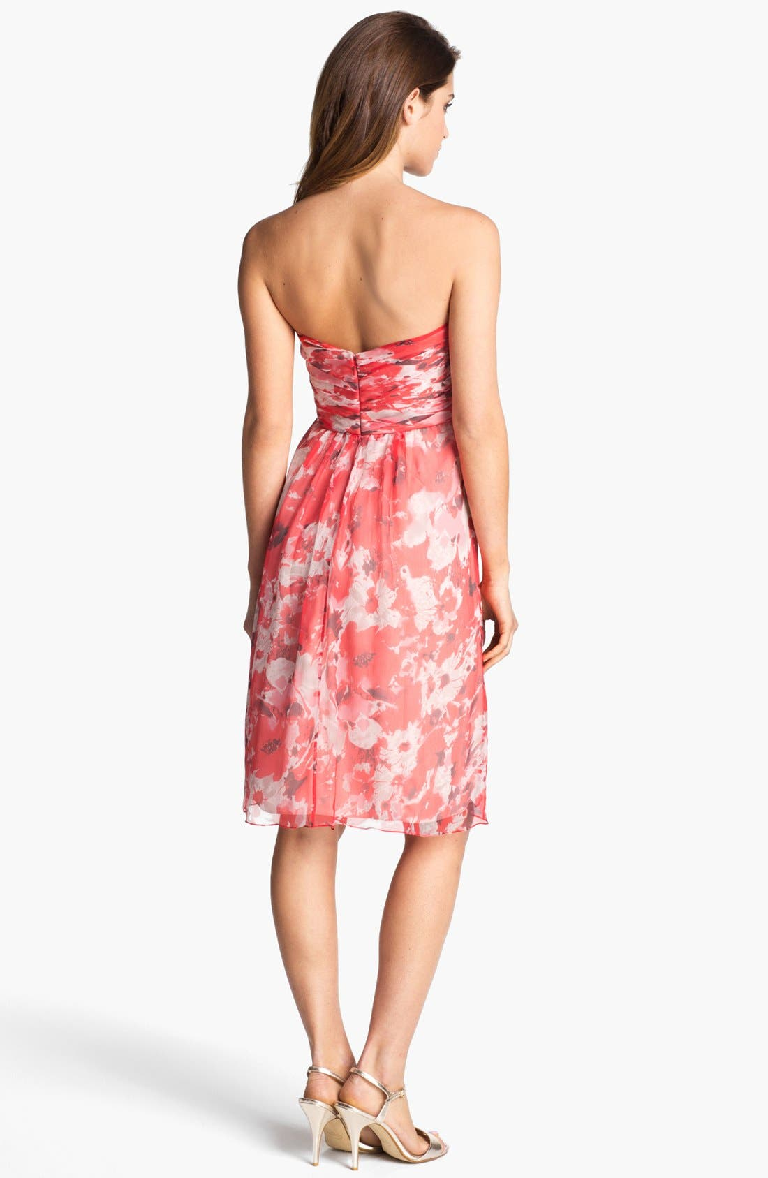 Alternate Image 2  - Amsale 'Amore' Print Silk Chiffon Dress