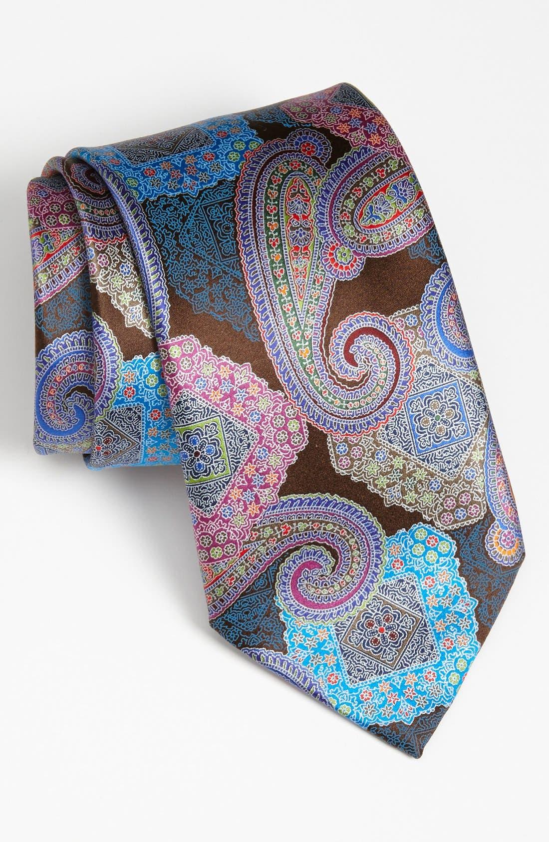 Alternate Image 1 Selected - Ermenegildo Zegna 'Quindici' Woven Silk Tie