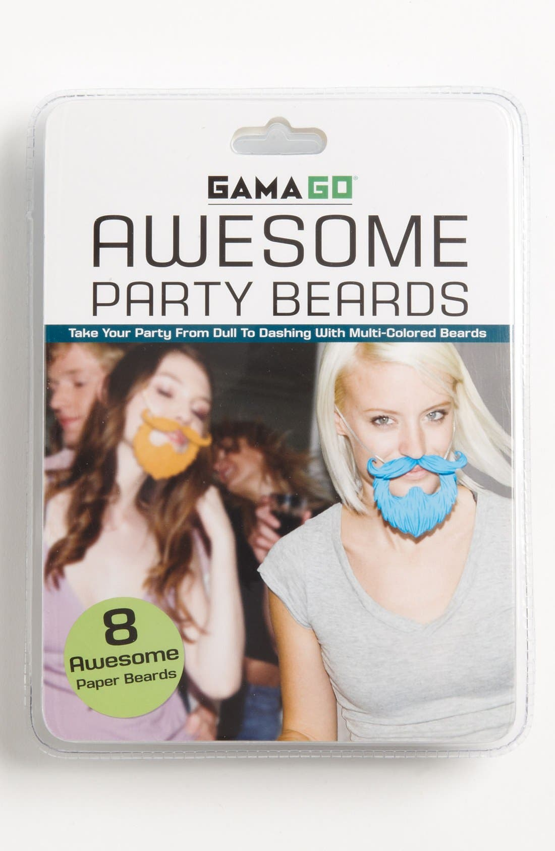 Alternate Image 1 Selected - Multicolored Party Beards (Set of 8)