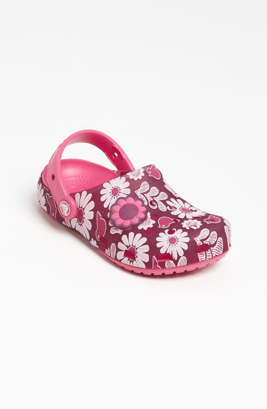 Alternate Image 5  - CROCS™ 'Chameleon Floral' Slip-On (Walker, Toddler & Little Kid)
