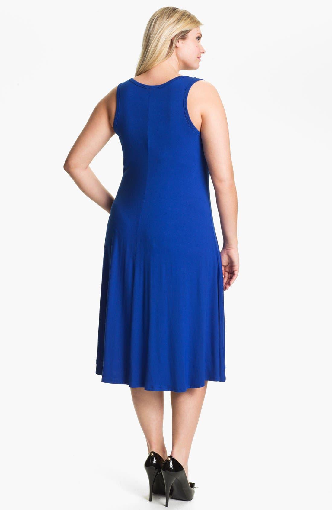 Alternate Image 2  - Karen Kane Midi Tank Dress (Plus Size)