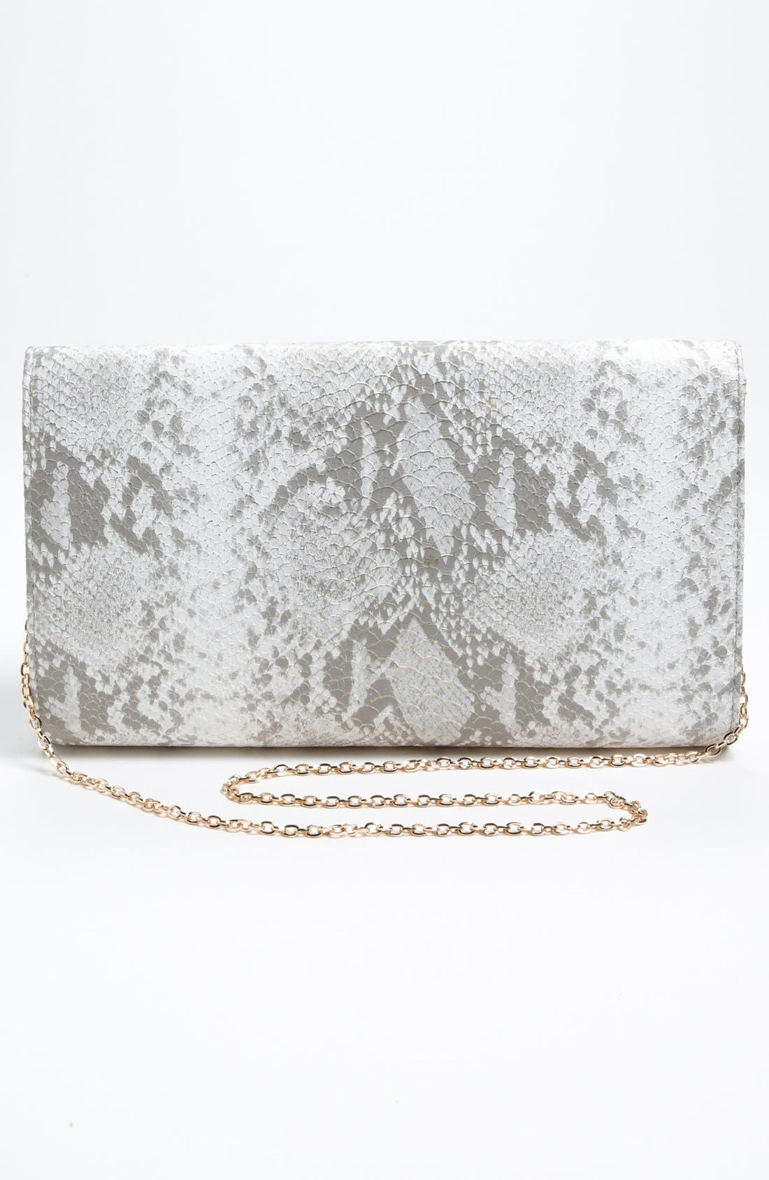 Alternate Image 4  - Urban Expressions Handbags Snake Embossed Clutch
