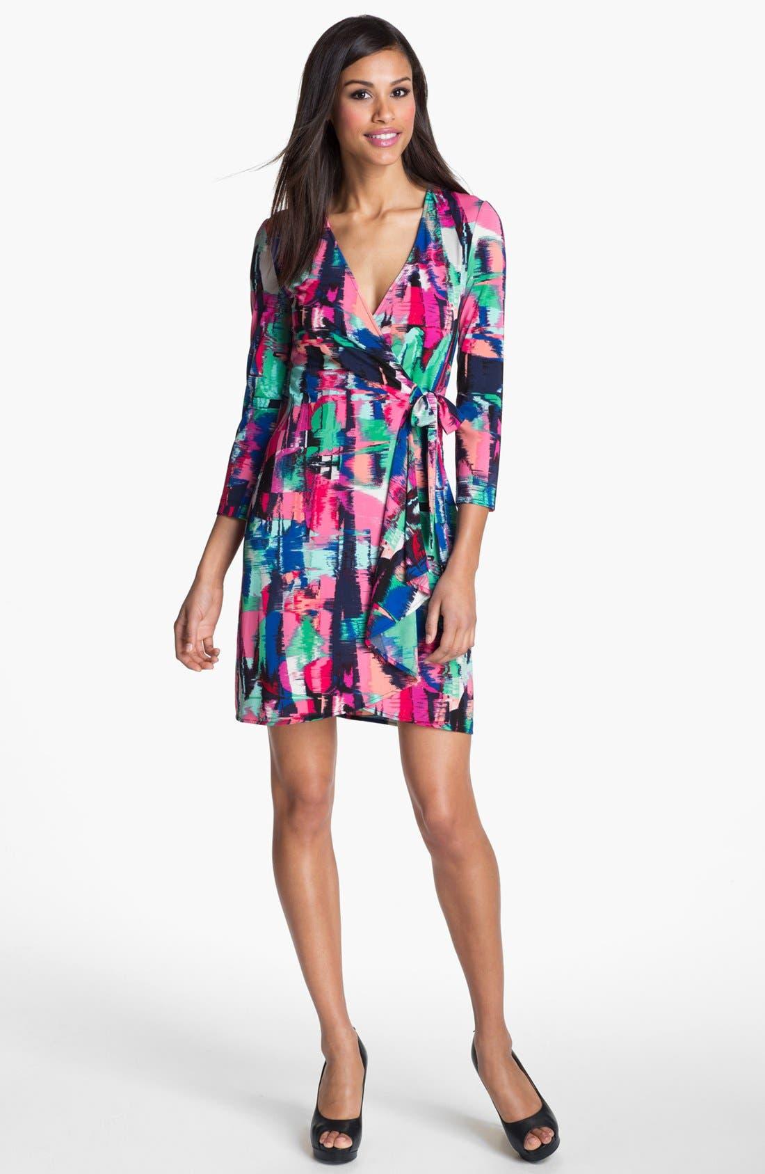 Alternate Image 1  - BCBGMAXAZRIA Print Jersey Wrap Dress