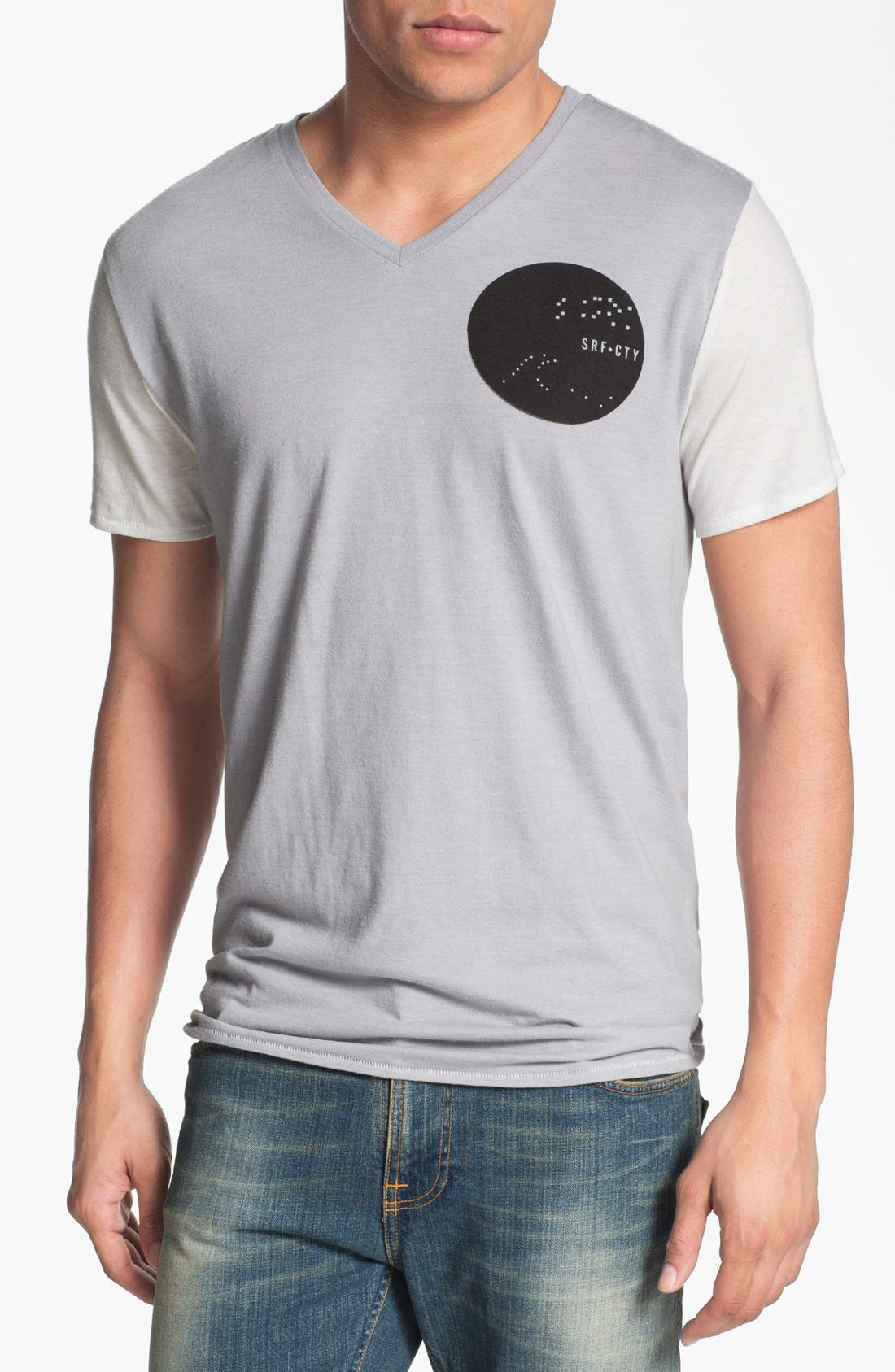 Alternate Image 1 Selected - Loomstate 'Surf City' Graphic V-Neck T-Shirt