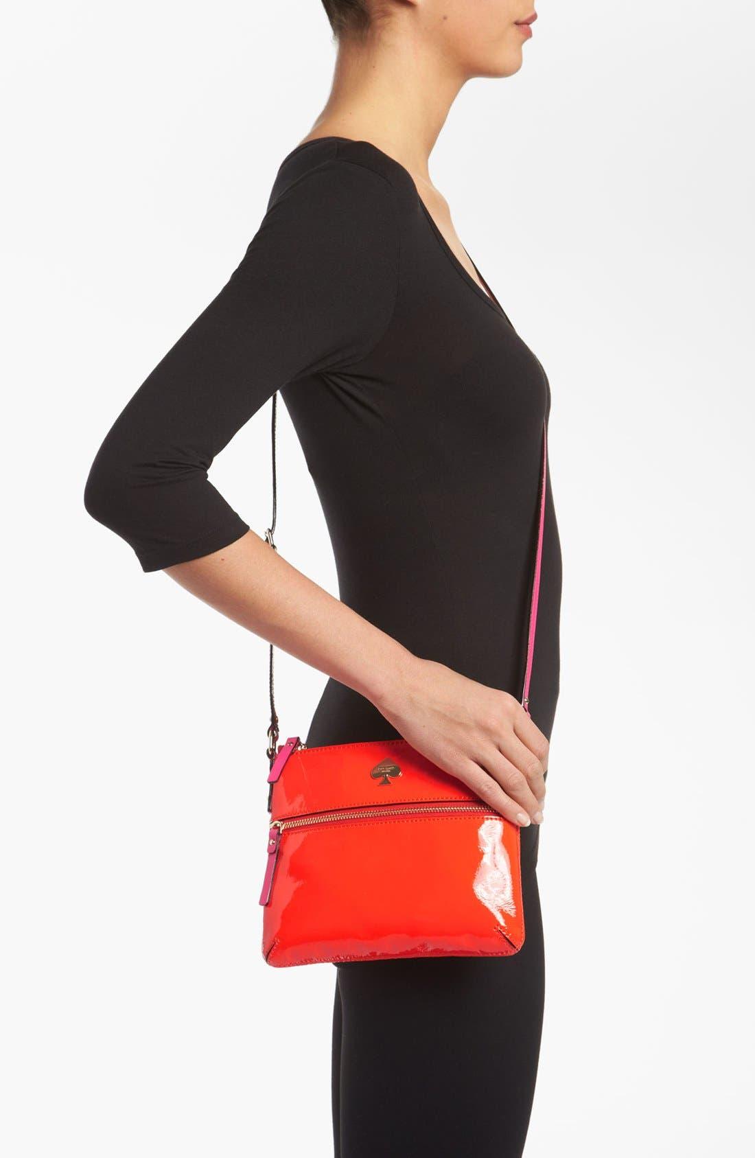 Alternate Image 2  - kate spade new york 'flicker - tenley' patent crossbody bag