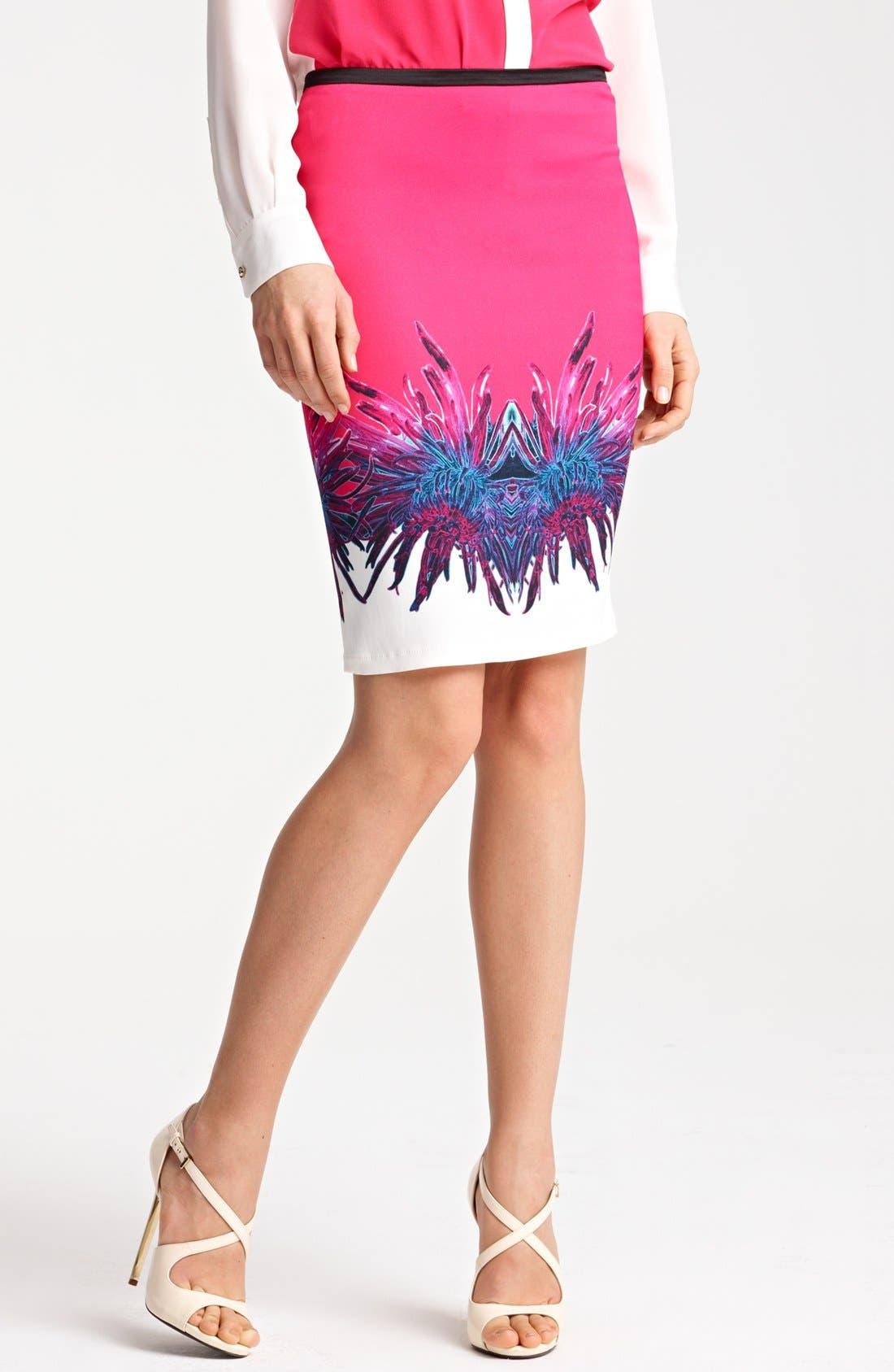 Alternate Image 1 Selected - Roberto Cavalli 'Amber Print' Skirt