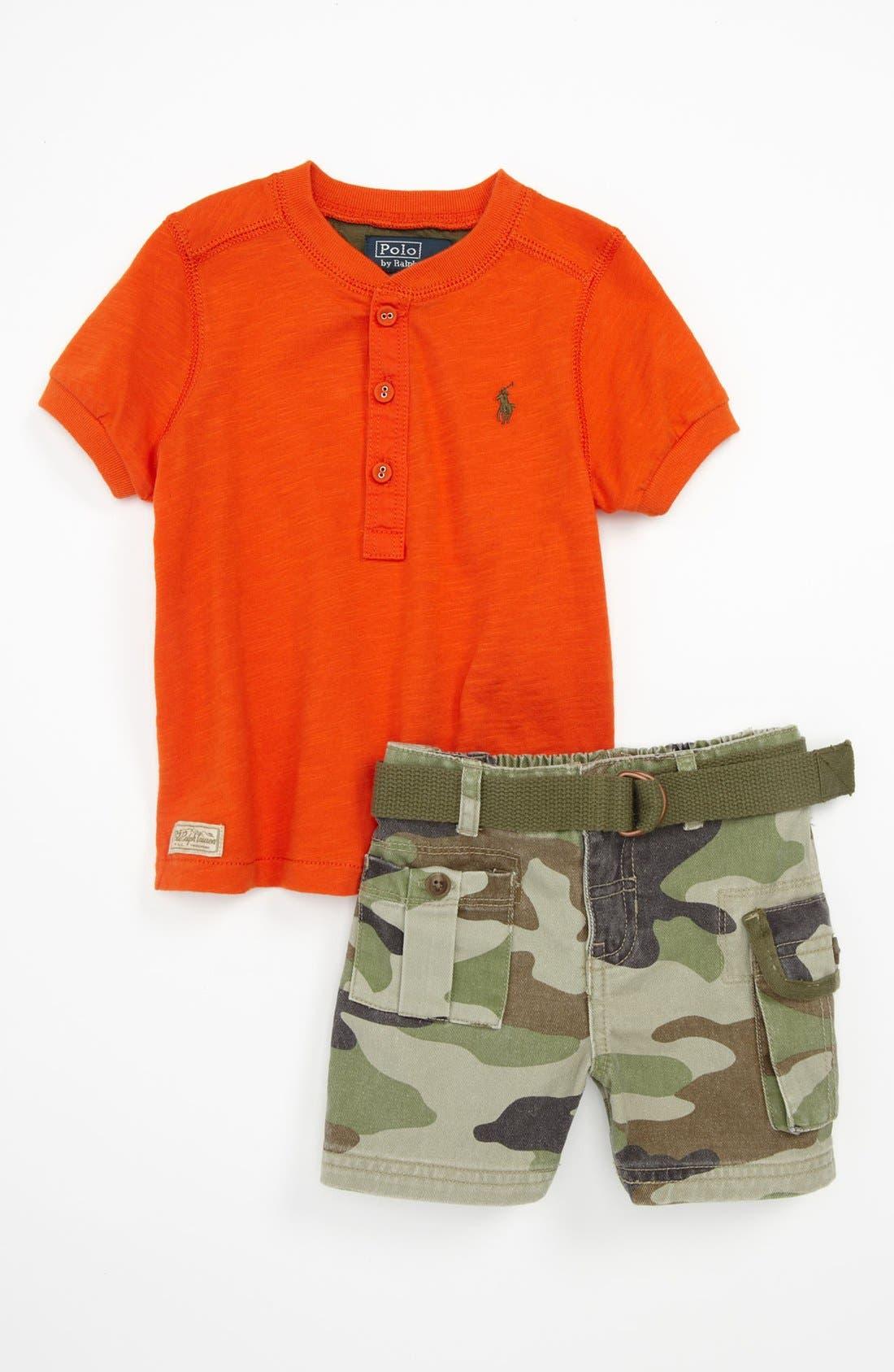 Main Image - Ralph Lauren Shirt & Shorts (Baby)