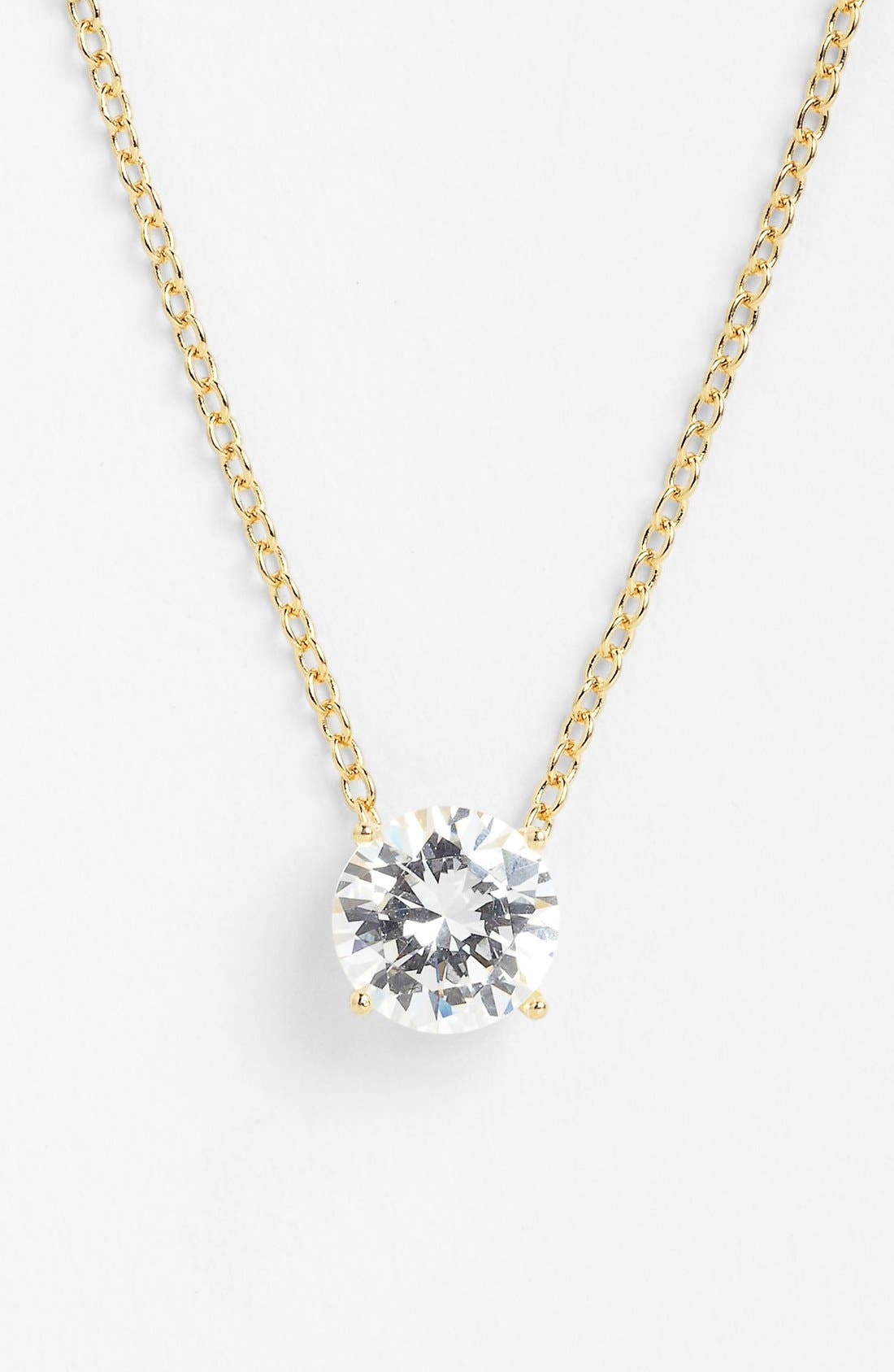 Alternate Image 1 Selected - Nordstrom 1ct Cubic Zirconia Pendant Necklace