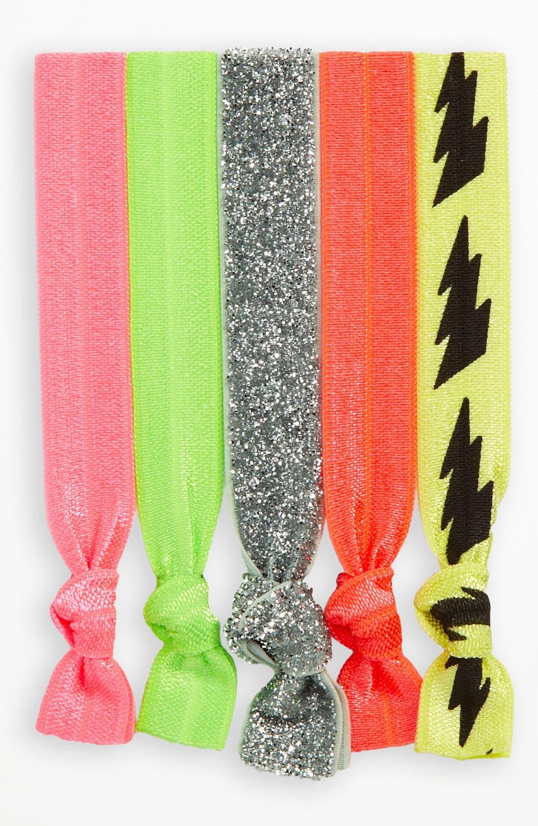 Alternate Image 1 Selected - Kitsch Hair Ties (Set of 5) (Girls)
