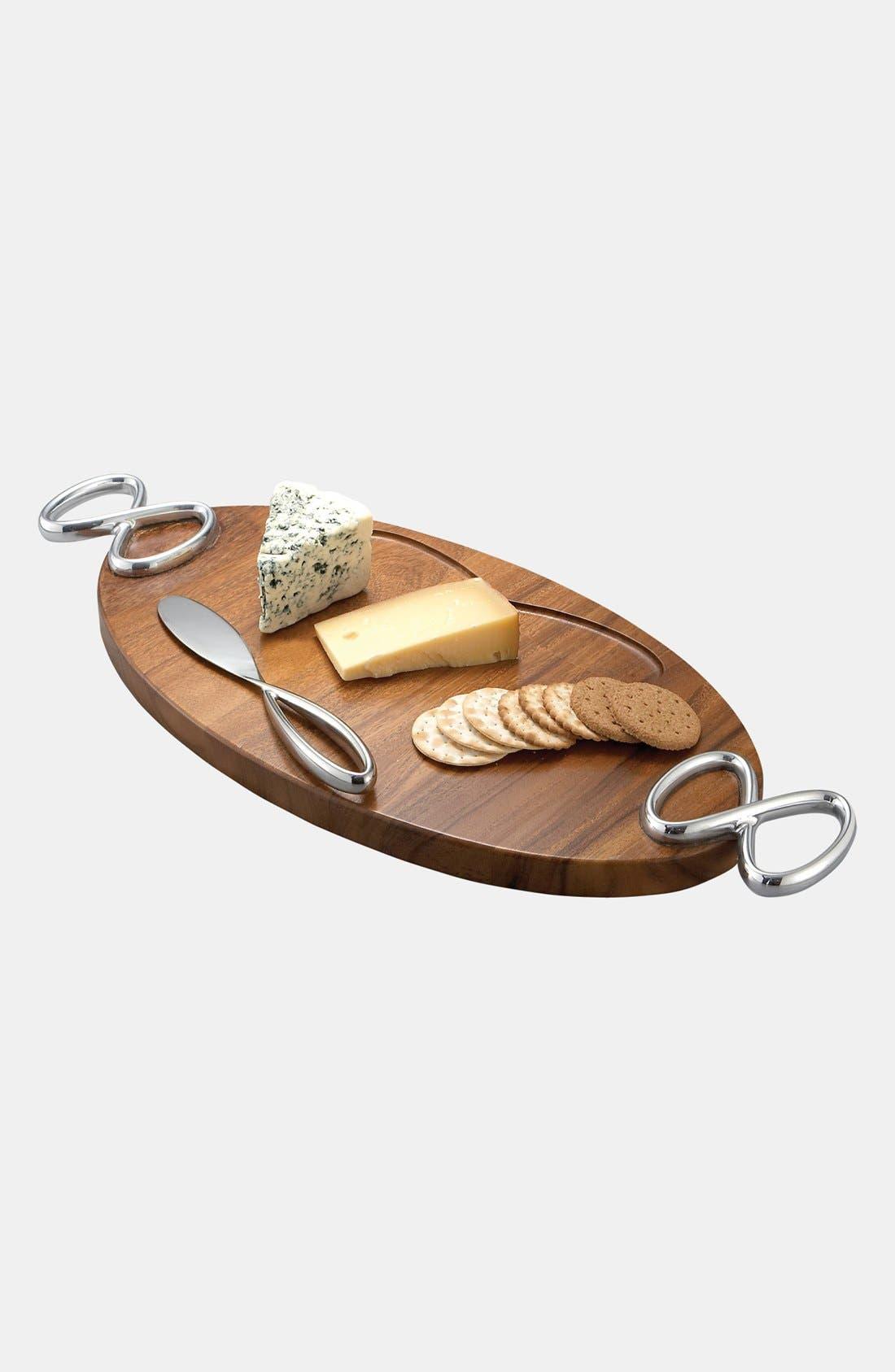 Nambé Infinity Cheese Board & Knife
