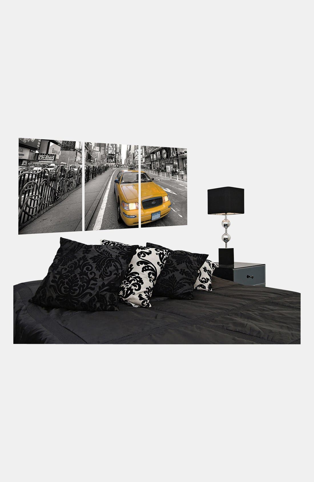 Alternate Image 3  - Wallpops Triptych Taxi Wall Art
