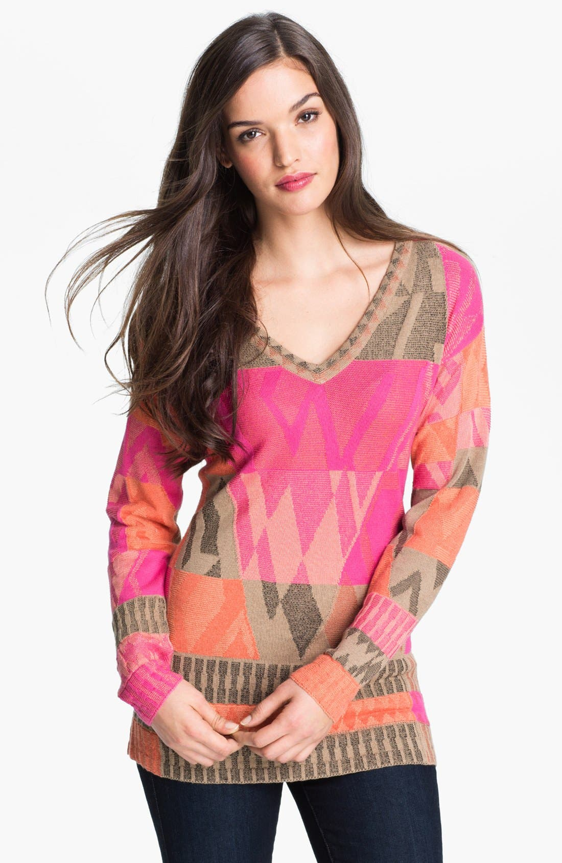 Main Image - Nic + Zoe 'Coral Reef' Sweater (Petite)