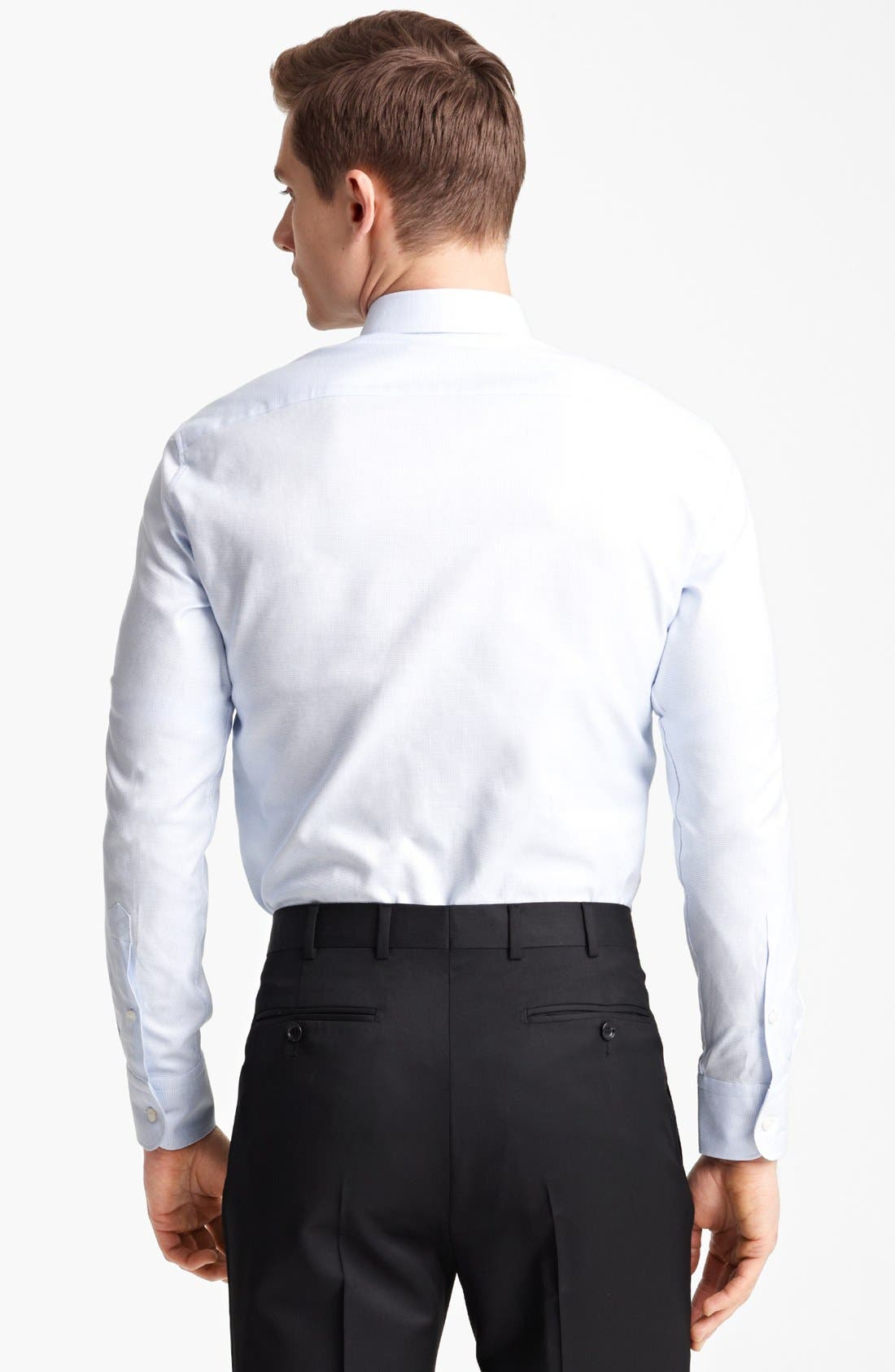 Alternate Image 2  - Z Zegna Micro Check Cotton Dress Shirt