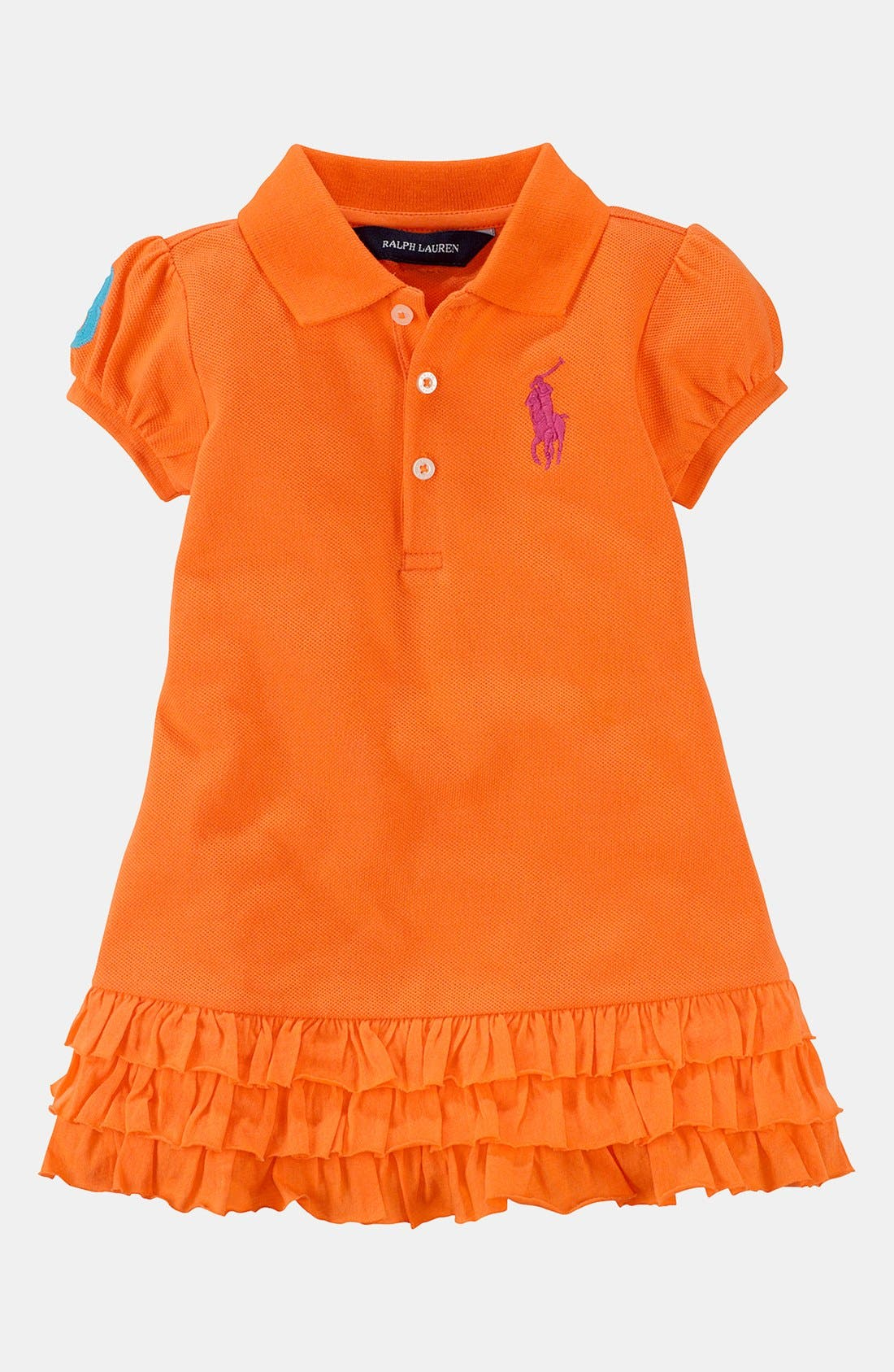 Main Image - Ralph Lauren Polo Dress & Bloomers (Baby)