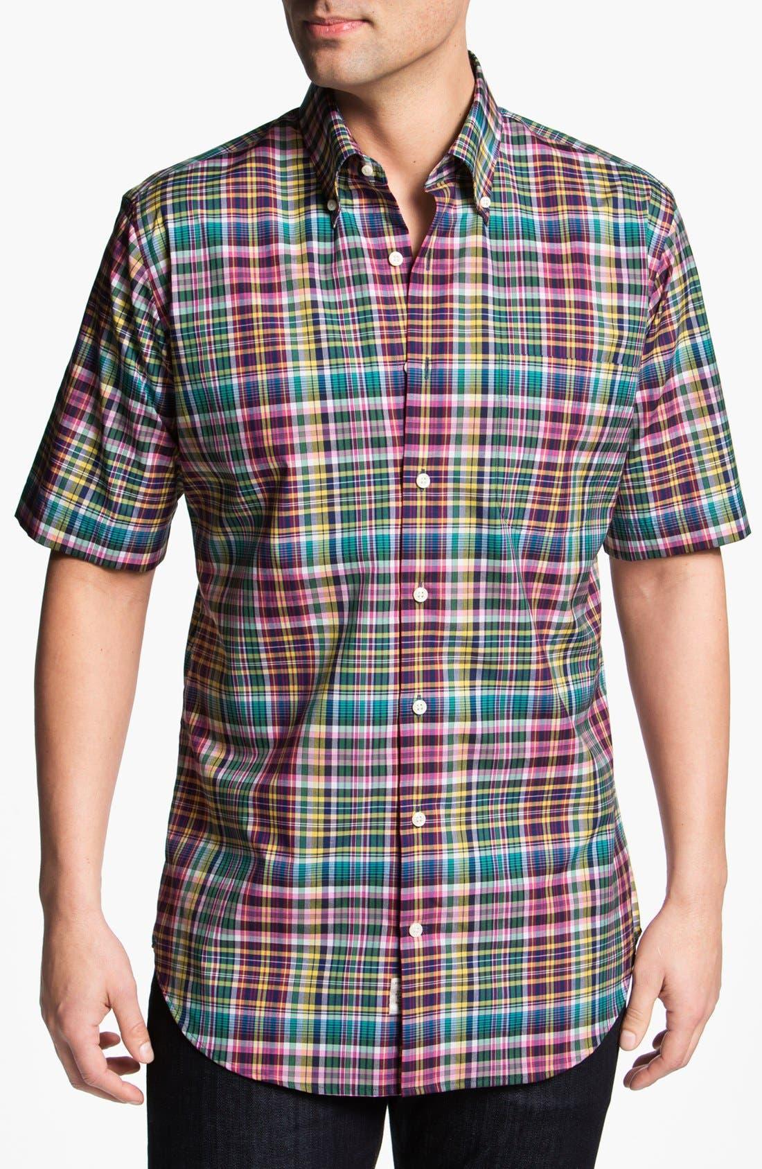 Alternate Image 1 Selected - Peter Millar 'Cape' Regular Fit Short Sleeve Sport Shirt