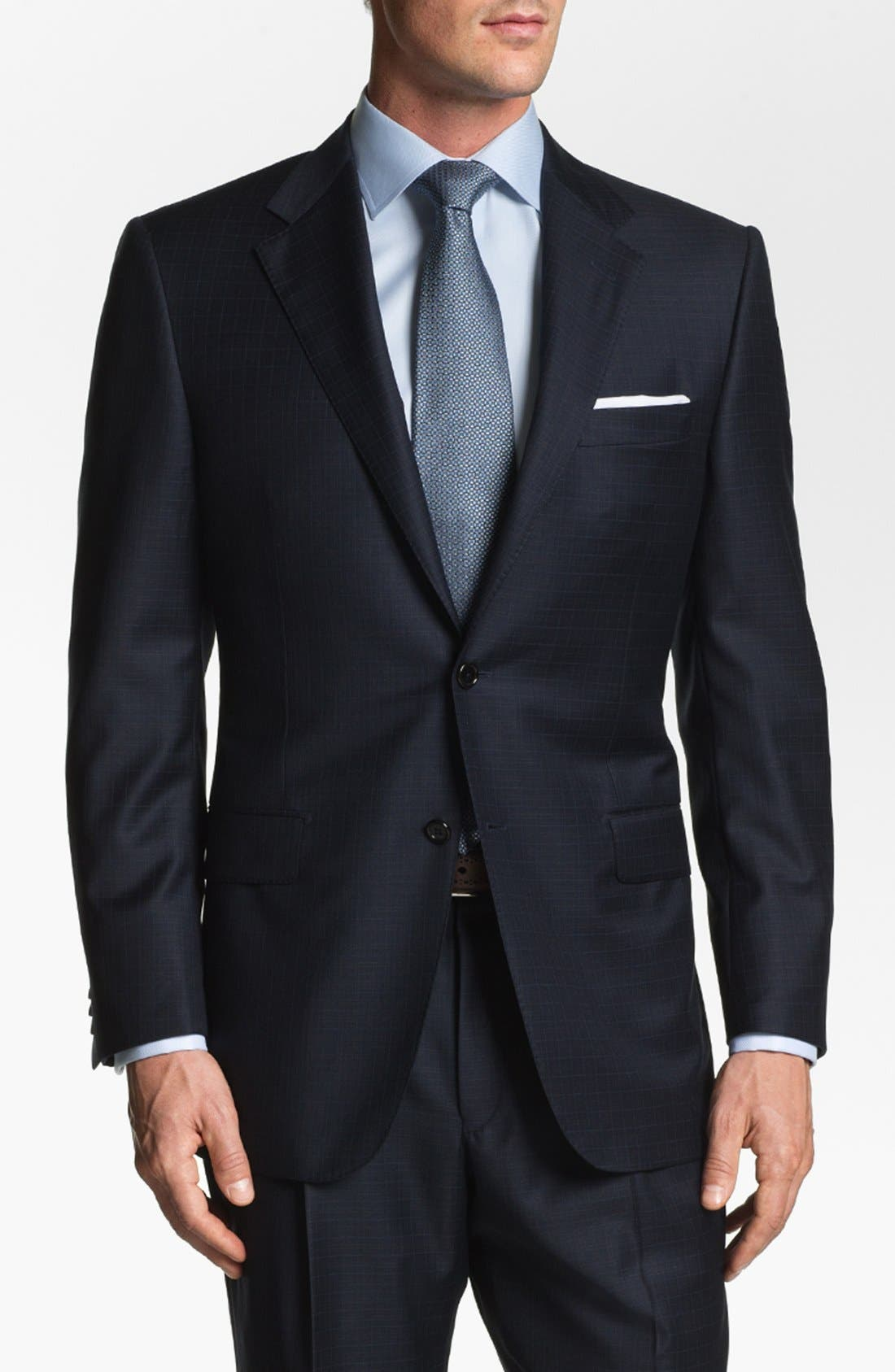 Alternate Image 1 Selected - Hickey Freeman 'Addison' Check Suit