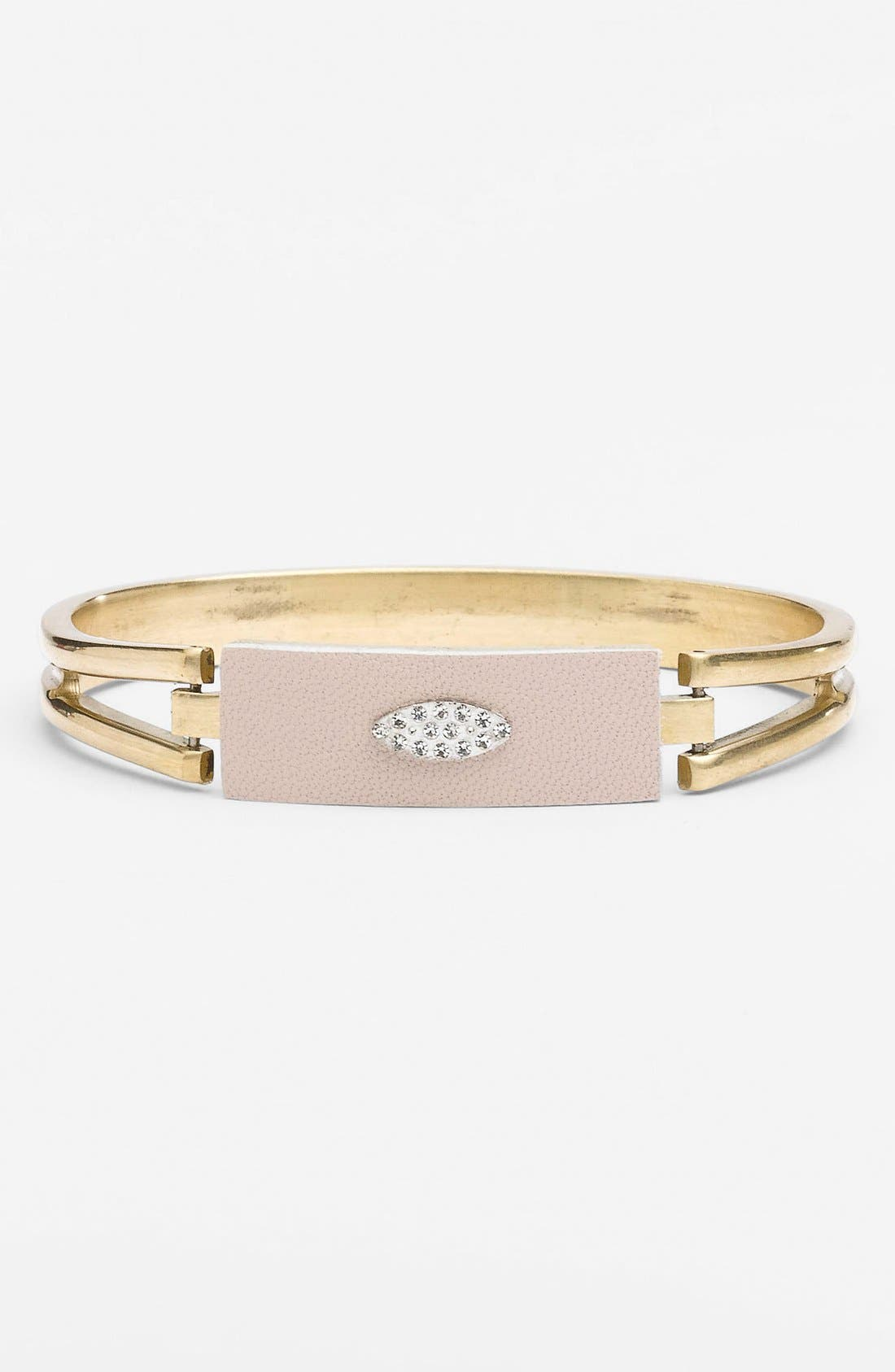 Main Image - Sandy Hyun Leather & Crystal Bangle