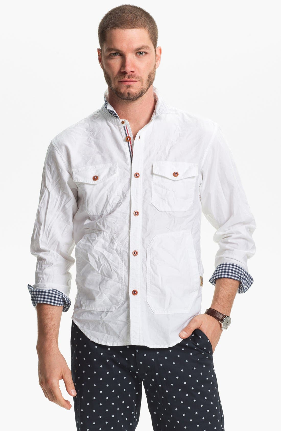 Alternate Image 1 Selected - PRPS Oxford Cotton Shirt