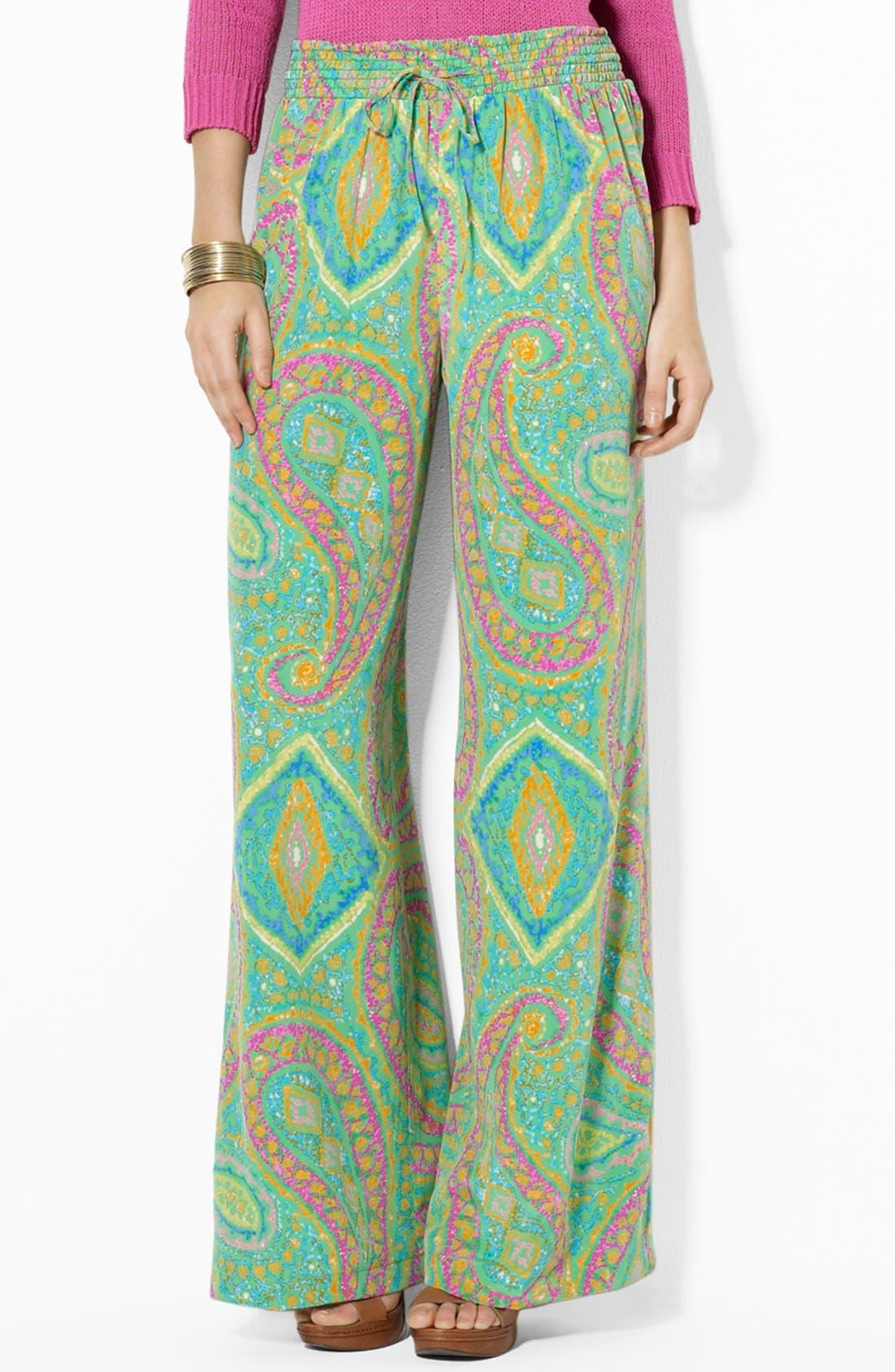 Main Image - Lauren Ralph Lauren Wide Leg Pants
