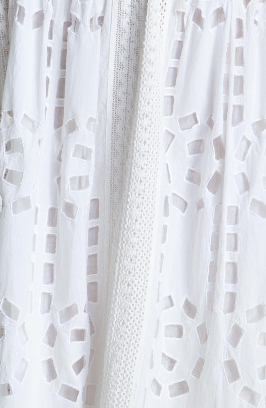 Alternate Image 3  - MICHAEL Michael Kors Crochet & Eyelet Skirt